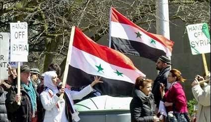 Palestinians, Syrian Expats Protest against US Strike in Syria