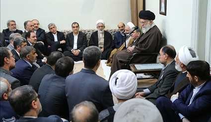 Leader receives country's officials