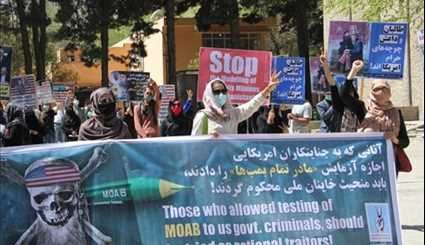 Afghans Protest to Condemn US Use of MOAB