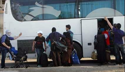 Syria Evacuated Gunmen, Family Members from al-Wa'er Exceed 2,000