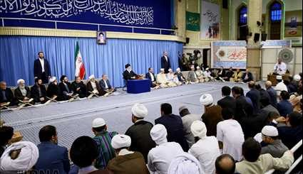 Leader receives attendees of Quran competitions
