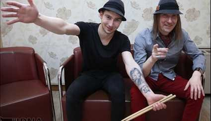 Polish rock duo Partyzant performs in Tehran