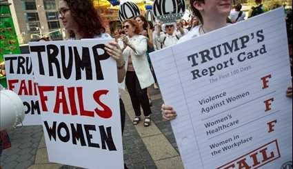 National Organization for Women Holds Anti-Trump Protest in New York