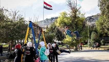 Spring in Syrian Capital of Damascus