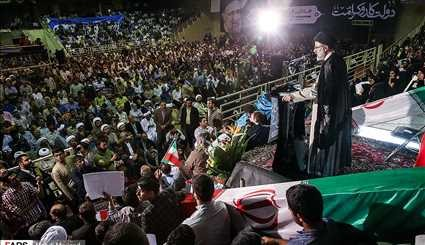 Iranian Presidential Candidate Raisi Holds Campaign Meeting in Bandar Abbas