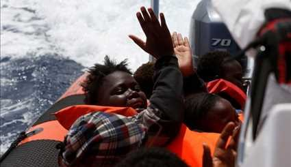 Migrant rescue on the Mediterranean