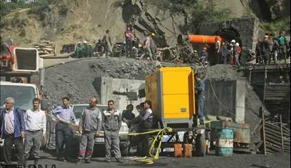 Relief work still continues in Golestan coal mine