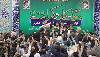 Iranian Presidential Candidate Raisi Continue Campaign Meetings in Ahvaz