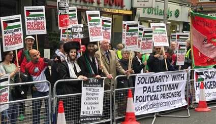 Muslims rally against Israeli occupation of Palestinian territories in London