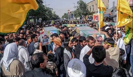 Funeral six martyr in Qom