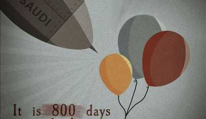It is 800 days since the first air strike on yemen