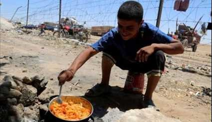 Daily Life of Syrians in Temporary Camp, Northern Syria
