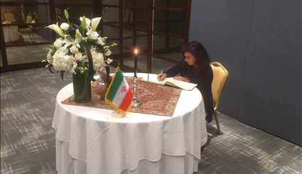 Foreign diplomats paying tribute to victims of Tehran terror attacks