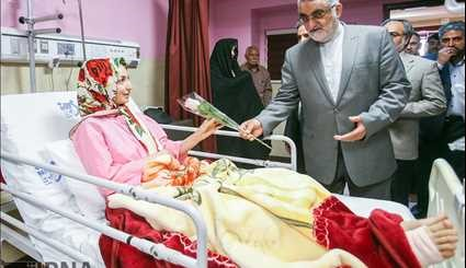 Intelligence minister visiting the injured of Tehran attacks