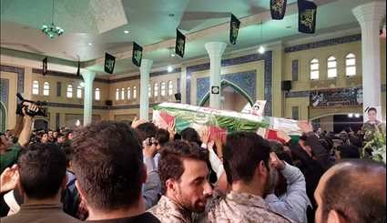 The funeral of martyr terrorist attack in Abadan