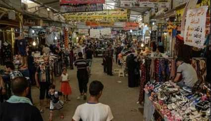 Iraqis Sell Goods in Mosul's Prophet Younis Market as ISIL Nightmare Nears End