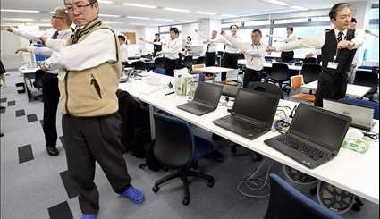 Exercise in Japanese offices / Pictures