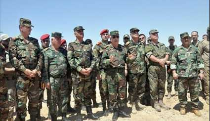 Chief of General Staff Inspects Army Units Operating in Palmyra