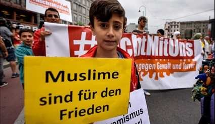Muslims March in Anti-Terror Protest in Cologne