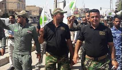 Iraq's Popular Forces Stage Int'l Quds Day Rally