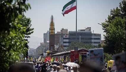 Tehran Iran Displays Missiles in Quds Day Rally