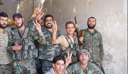Syrian Army Troops Continue Anti-Terrorism Operations in Eastern Damascus