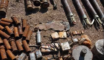 Homs Syrian Army Discovers Israeli-Made Weapons in Al-Wa'er