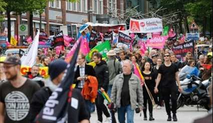 Thousands Protest in German City of Hamburg before G20