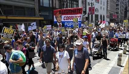 Thousands of Anti-Trump Activists March across US