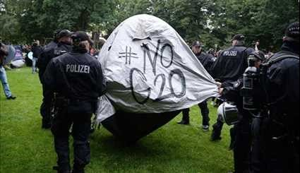 Riot Police Clash with Protesters Ahead of G20 Summit in Germany