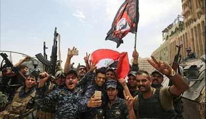Iraqi Forces Celebrate Mosul Victory