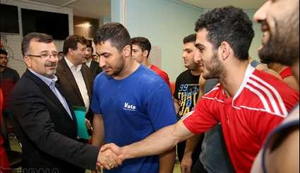 Visit of the sports assistant from the Weightlifting Youth Team / Images