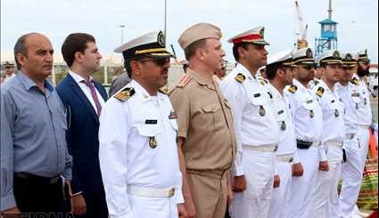 The arrival of the fifth group of Russia's peace and friendship vessels to Iran