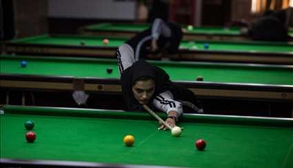Female snooker team campaign in Qazvin