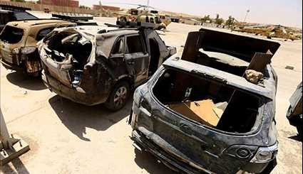 ISIL's Deadly Vehicles Go on Show in Mosul after Terrorists' Defeat