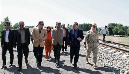 Indian amb. visits Astara-Astara railway route