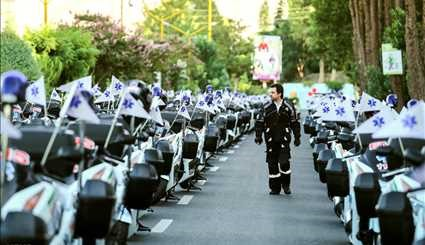 The launch of 200 ambulance motorcycles in Tehran