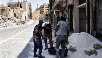 Aleppo Residents Slowly Rebuild War-Ravaged City