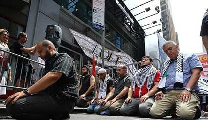 People Protest against Israel's Al-Aqsa Mosque Restrictions in Europe, US