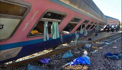 Ahwaz-Mashad train derails with no casualties on July 23, 2017.