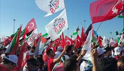 Thousands Rally in Istanbul against Israel's Al-Aqsa Mosque Measures