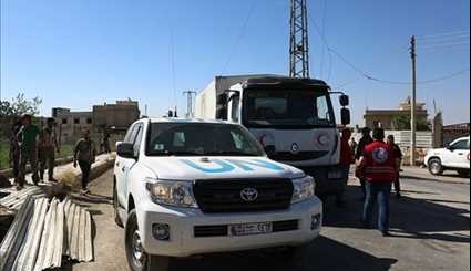 Syrian Red Crescent Delivers Humanitarian Aid to Eastern Ghouta