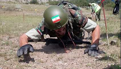 Iranian Military Servicemen at 'Elbrus Ring' Competition