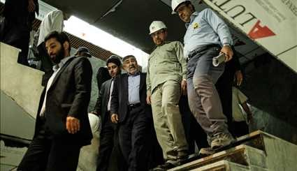 Visiting from the final stages of the Tehran Metro Line 6 / Images