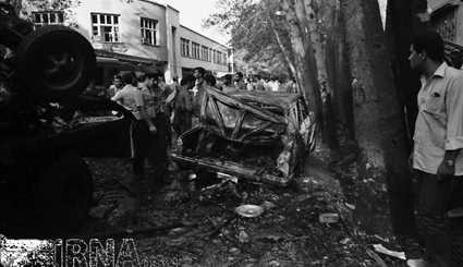 August 1981 - Explosion of a bomb in Pasteur Street in Tehran / Images