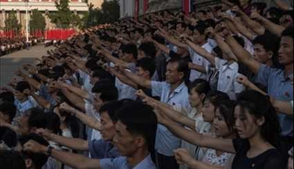 Mass Rally in Pyongyang in Support of North Korea's Stance Against US