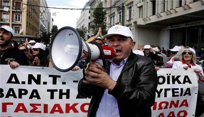 Mass protests hit Greece over TV closure