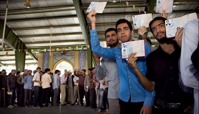Iranian people's massive turnout in elections