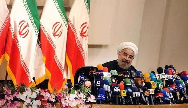 In pictures: Rohani's 1st news conference