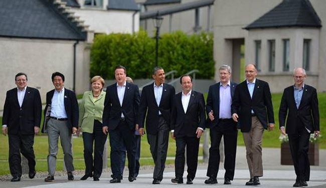 G8 backs urgent Syria peace talks in Geneva